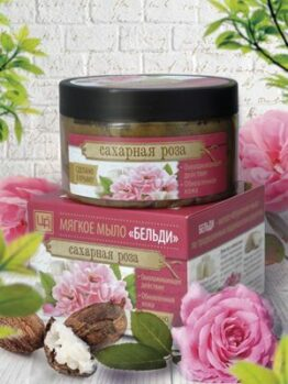 Мягкое мыло «Бельди» - Сахарная роза